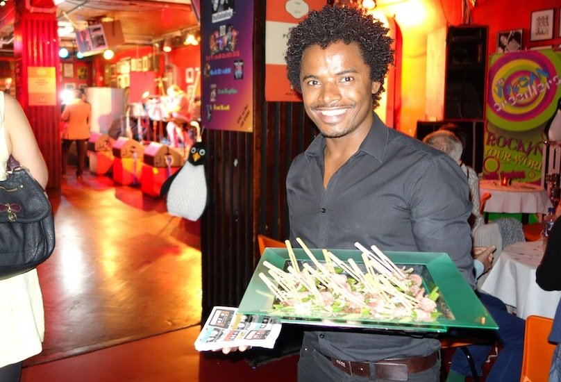 Hire waiters for canapé parties in London