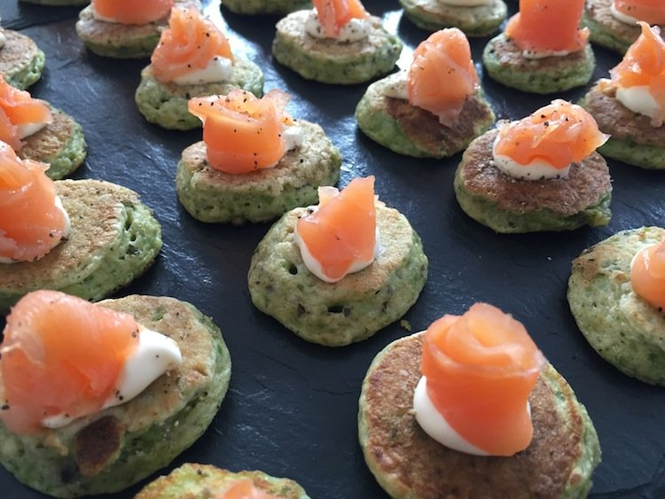 Popular canapés for birthday parties and weddings